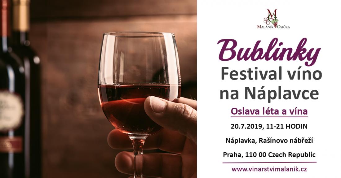 Bublinky na Náplavce - festival víno.